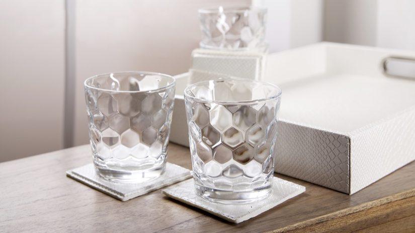 krásné křišťálové sklenice