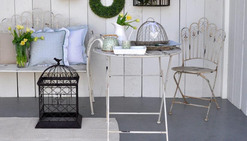 kovový zahradní nábytek shabby chic