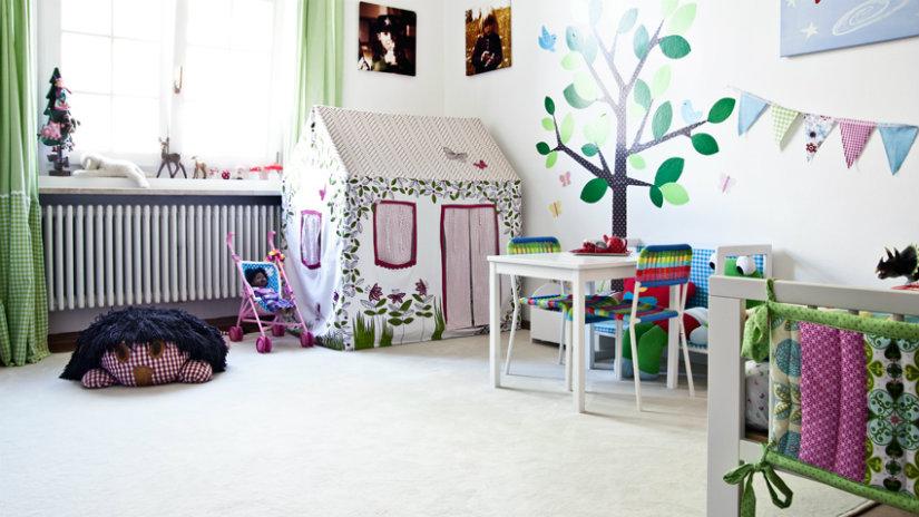 zelené dekorace do dětského pokoje