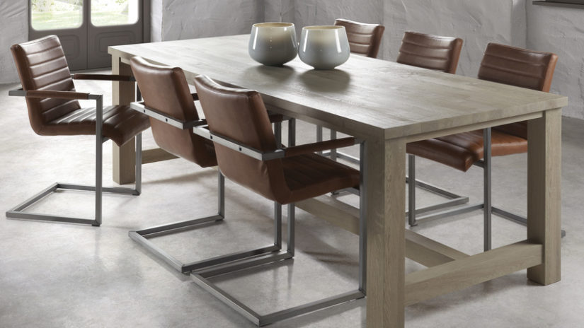 konzolová kožená jídelní židle