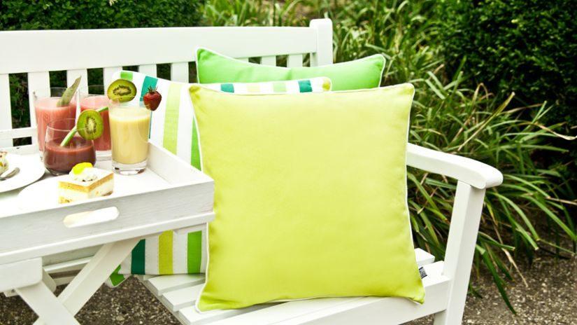 veselé zelené dekorační polštáře