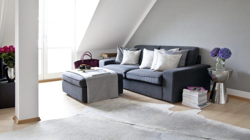 elegantní kožený koberec