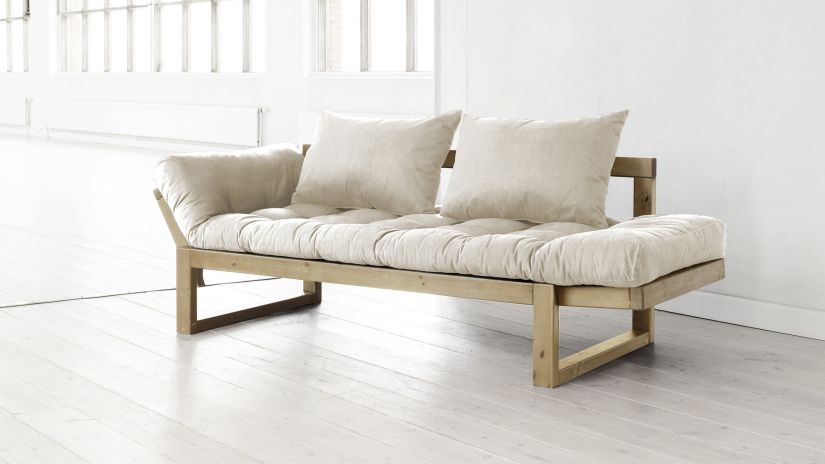 světlý futon