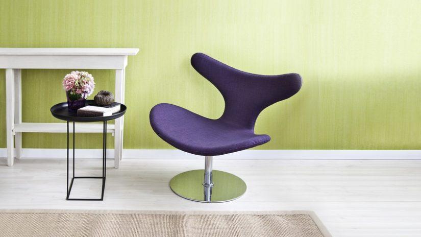 fialová designová židle
