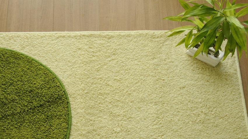 kulatý zelený koberec