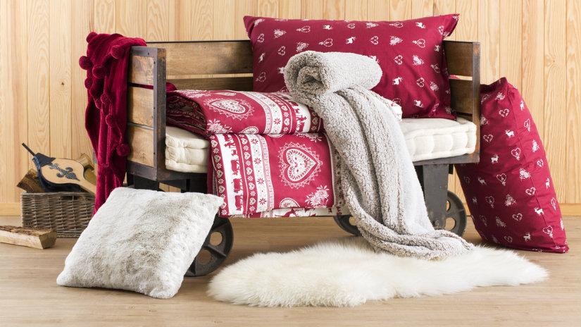stylová vánoční deka