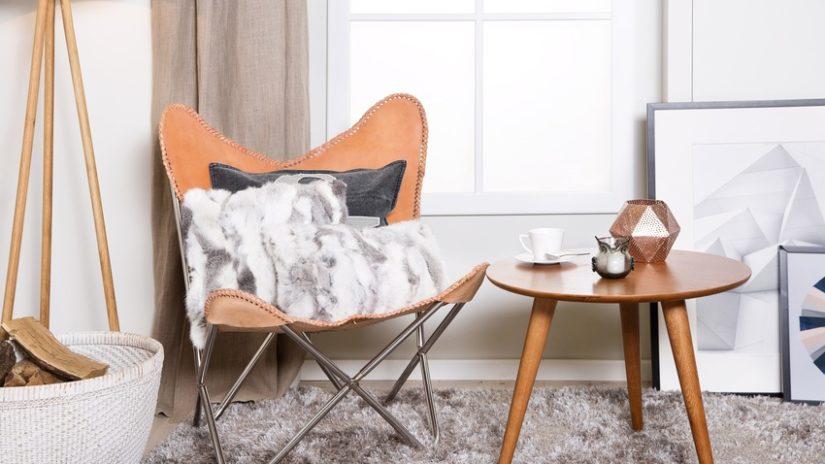 kožená retro židle
