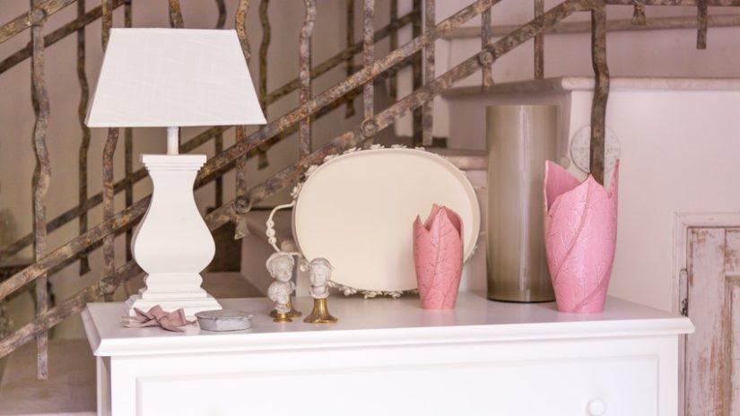 romantická keramická váza