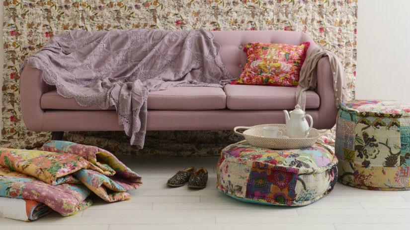 barevná patchwork deka