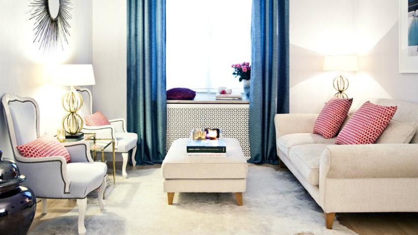kožešinový bílý koberec