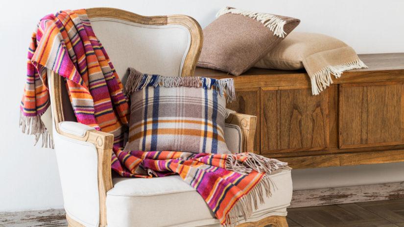 barevná luxusní deka