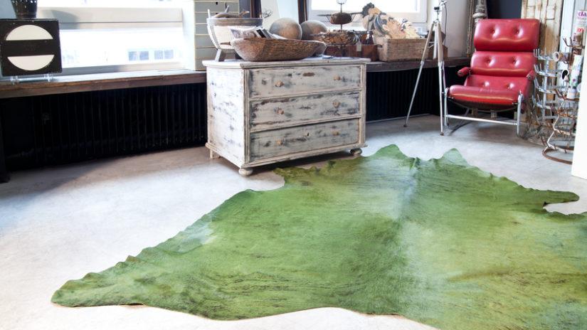 stylový zelený koberec
