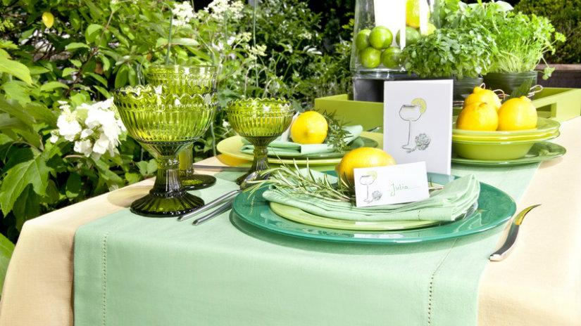 jarní dekorace na stůl