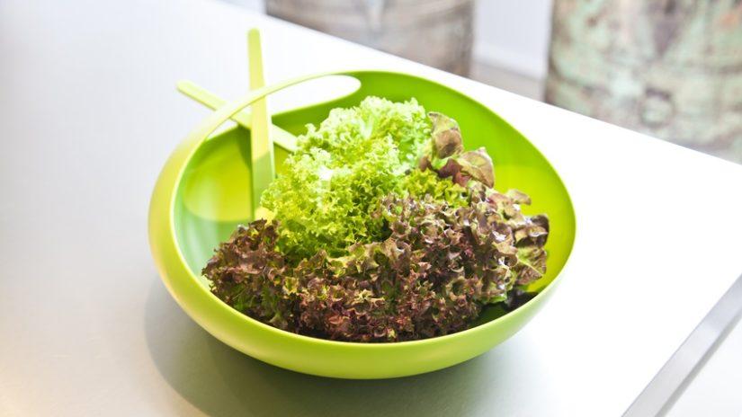 zelená salátová mísa