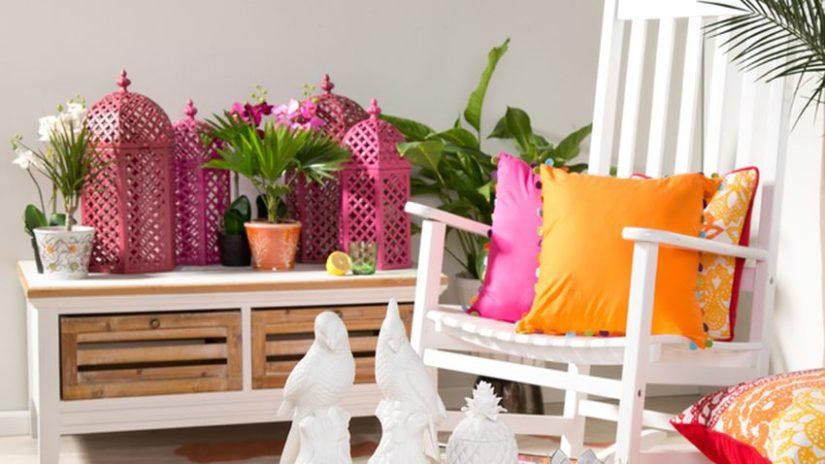 růžové zahradní lucerny