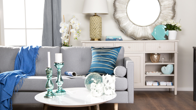 Wohnzimmer Einrichten: Exklusive Wohnideen | Westwing Wohnzimmer Blau Weis Grau