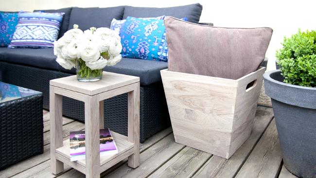 Terrassengestaltung mit Rattan-Möbel