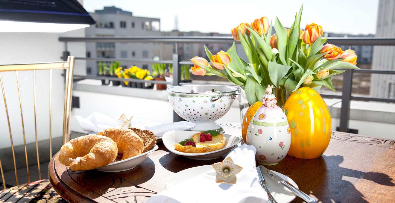 Frühstücksteller Weiß