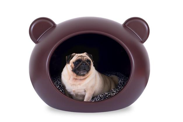1-Guisapet Medium Brow Dog Cave - Pug