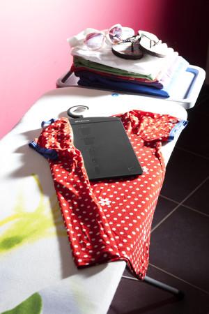 Hochkant_Wäsche auf Bügelbrett