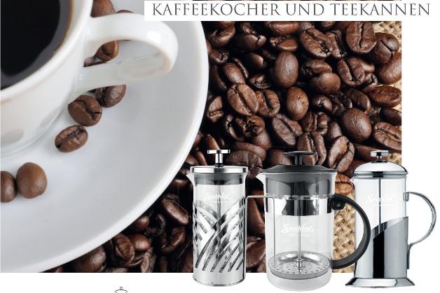 Kaffeekocher und Teekannen