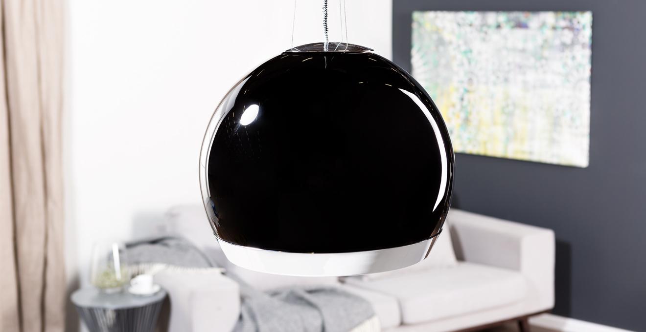 Kugellampe schwarz