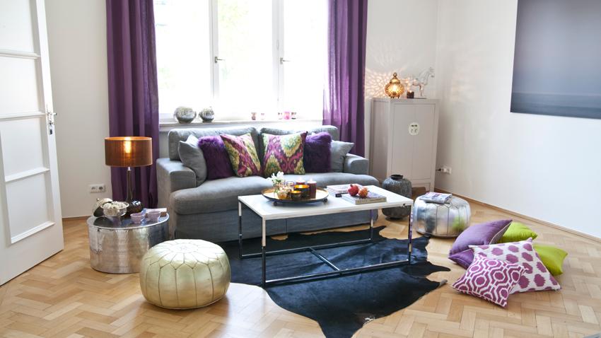Kuhfell Wohnzimmer