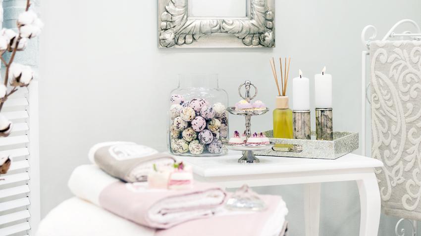 Rosa-Badezimmer