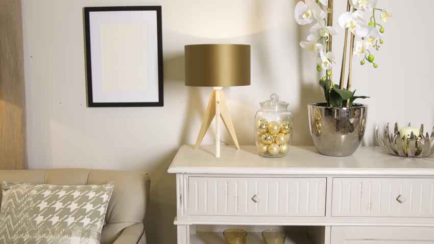 Wohnzimmerlampe Gold