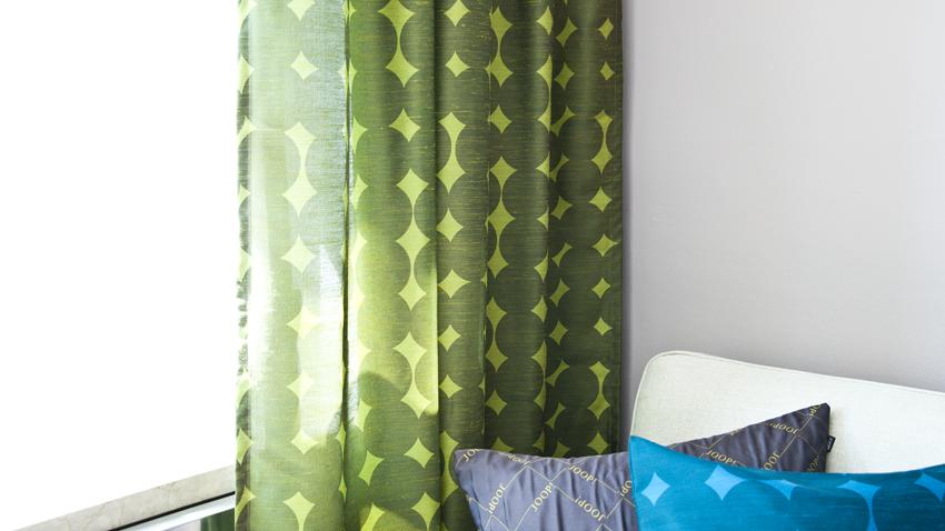 Vorhang-grün