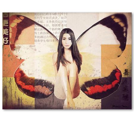 Identity Art Frau als Schmetterling