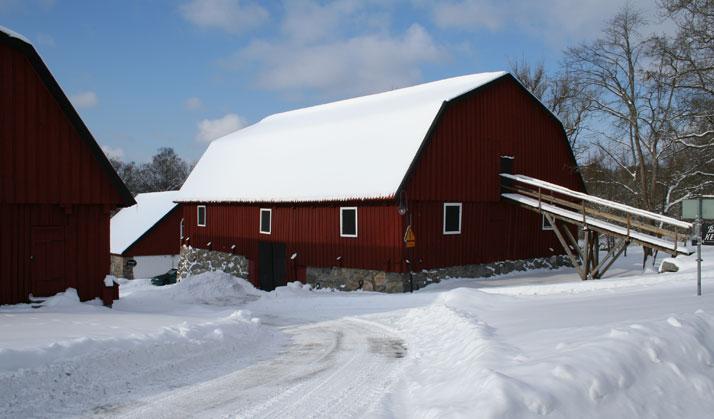 Skultuna Fabrik im Winter