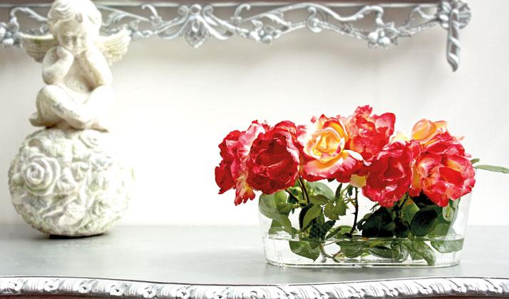 Artevasi Glasvase mit Rosen