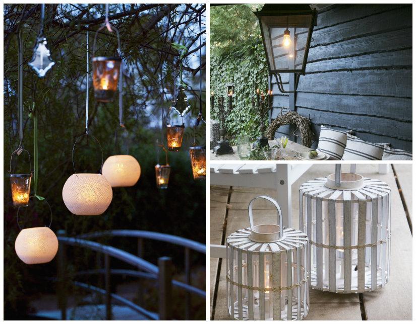 luces de jardín colgantes