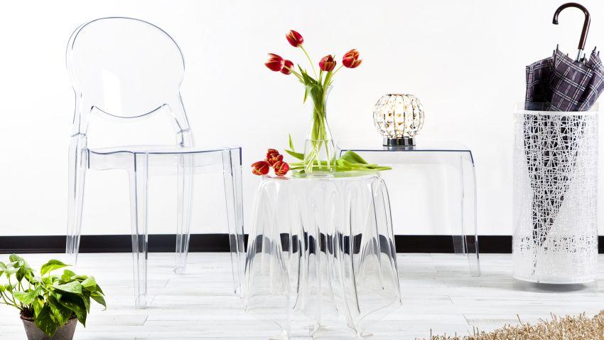 Mesas de comedor de cristal