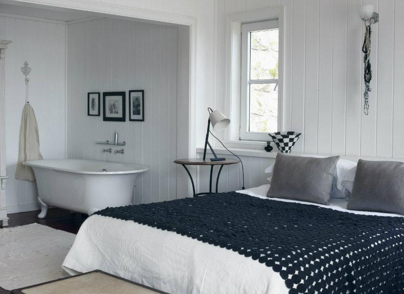 Ba o integrado en el dormitorio suite de lujo westwing for Dormitorio con bano