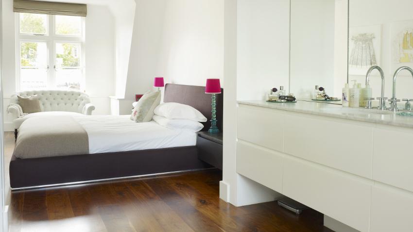 Ba o integrado en el dormitorio suite de lujo westwing for Banos abiertos a la habitacion