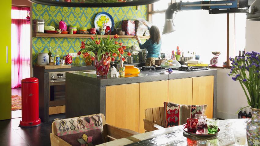 Muebles de cocina amarillos