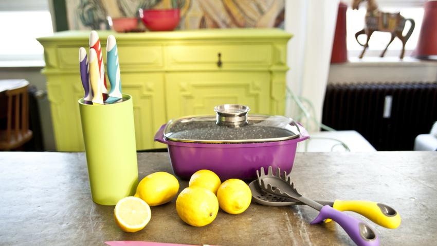 Muebles de cocina verdes