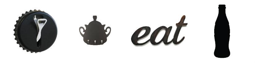 cocinas negras accesorios con formas