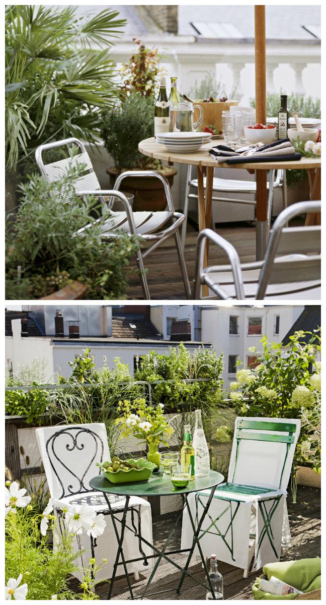 jardines en terrazas pequeños