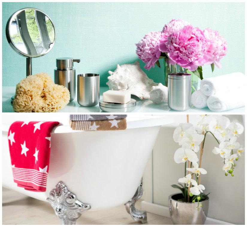 muebles de baño grises detalles