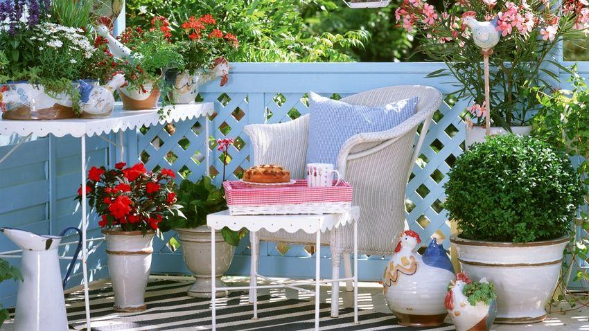 Balcones exteriores, decoración con encanto