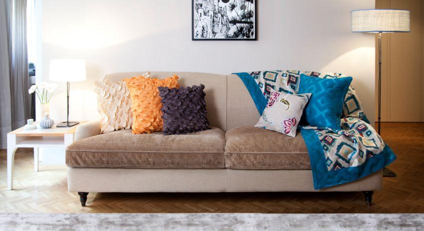 Sof marr n c mo combinar con estilo westwing - Muebles marrones de que color pinto las paredes ...