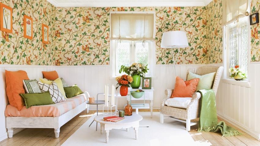 Papel pintado naranja energ a para tu pared westwing - Papel pintado decoracion paredes ...