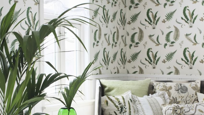 Papel pintado verde frescura para tus paredes westwing for Imagenes papel pintado