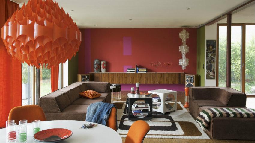 Sal n naranja un espacio acogedor y muy c lido westwing - Salones arabes modernos ...