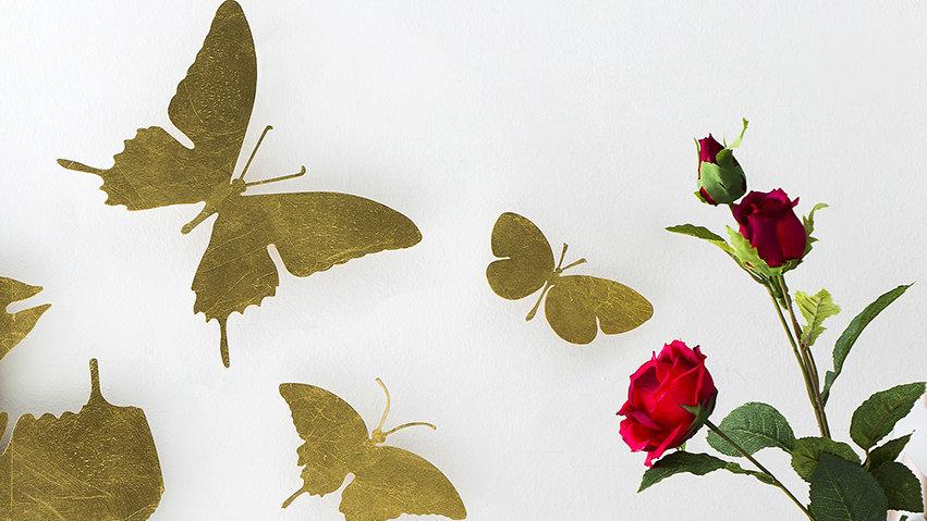 Papel pintado de mariposas toque rom ntico westwing - Papel pintado mariposas ...
