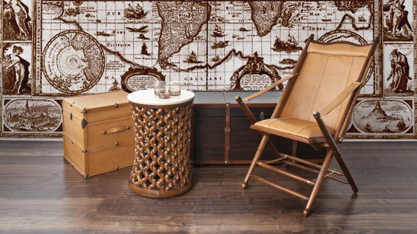 Papel pintado con mapamundi estilo en casa westwing - Papel pintado mapamundi ...