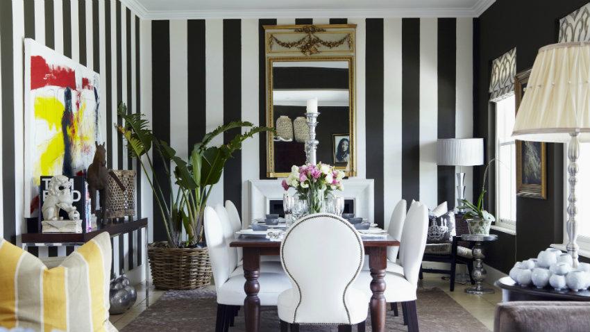 Papel pintado en blanco y negro pura elegancia westwing - Papel pintado negro ...